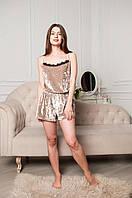 Романтичная женская пижама с кружевом