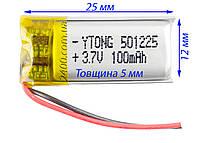Аккумулятор (100 мАч) для игрушек, наушников, гарнитур, охранных систем 501225 3,7в (100mAh) универсальный, фото 1