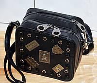 cfc3f49f Стильная черная модная женская сумка квадратной формы с фурнитурой на  плевом ремне