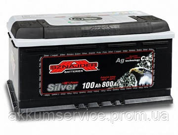 Аккумулятор автомобильный Sznajder Silver 100AH R+ 800А (60025)