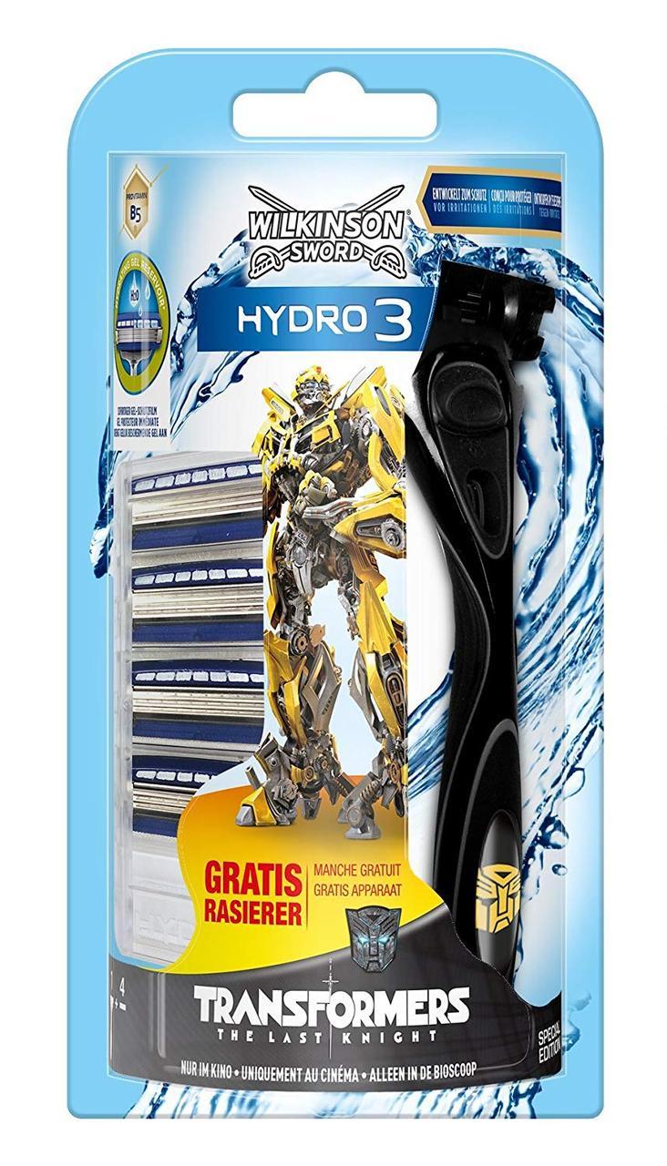 Бритвенный станок Wilkinson Hydro 3 Transformers 5 картриджей W0090