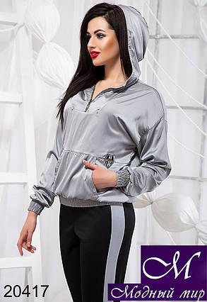 Женский стильный светло-серый спортивный костюм (р. S, M, L) арт. 20417, фото 2