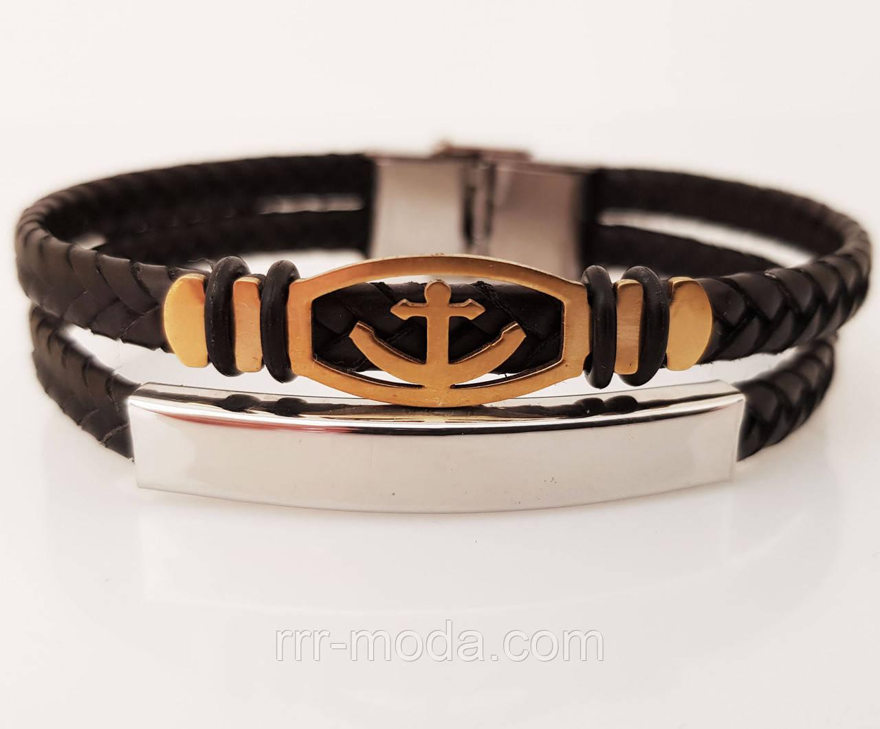 310. Мужские браслеты с якорем - браслеты из кожи, модные украшения для мужчин оптом
