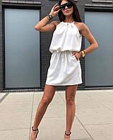 Женское платье летнее с резинкой на поясе