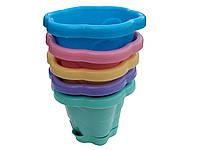 """Горшок для цветов «Фиалка» 1 литр разноцветные пластиковый """"Юнипласт"""" + Видеообзор, фото 1"""