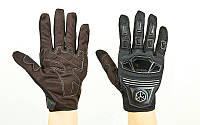 Мотоперчатки текстильные с закрытыми пальцами и протектором SCOYCO  (р-р M-XL, черный), фото 1
