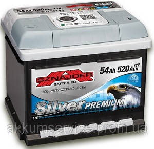 Аккумулятор автомобильный Sznajder Silver Premium 54AH R+ 520А (55445)