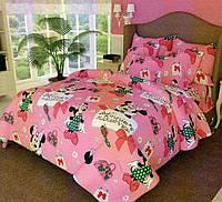 Детский комплект постельного белья в кроватку (Сатин 100% хлопок))