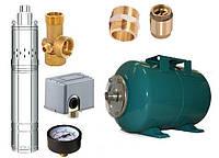 Погружной насос глубинный для воды насосная станция Свитязь 4QGD 1,2-50-0,37