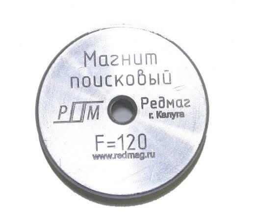 Поисковый магнит Редмаг F-120 кг, односторонний
