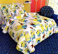 Детский комплект постельного белья в кроватку (Сатин 100% хлопок)