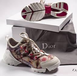 Женские кроссовки Dior D-CONNECT с принтом 36-40рр. Живое фото. Топ реплика ААА+
