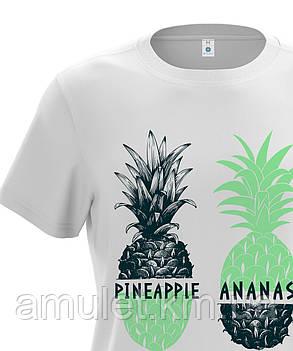"Футболка мужская белая ""Pineapple"", фото 2"