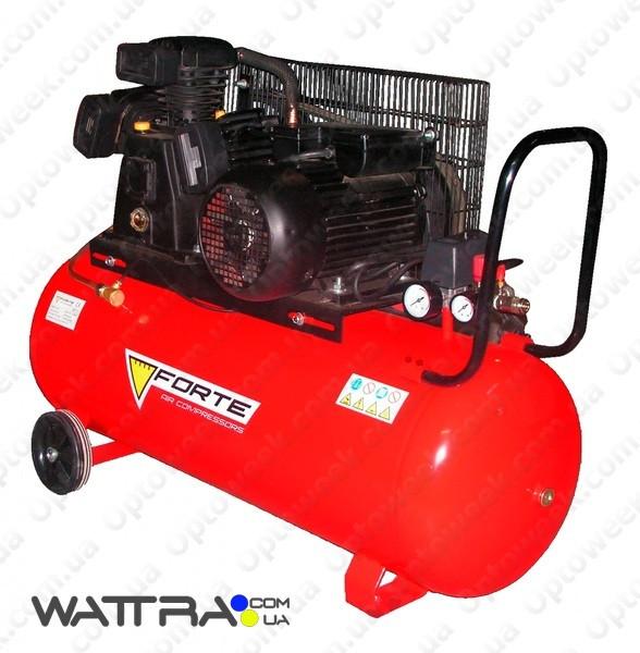 ⭐ Компресcор FORTE V-0.4-101 (10 атм. 2,2 кВт, вход: 420 л/мин., ресивер 100 л) поршневой