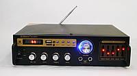 Усилитель звука Max SN-888BT 2×150W Bluetooth + USB+ Fm+ Mp3 + КАРАОКЕ 2 микрофона
