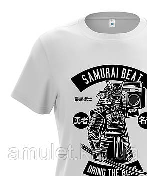 "Футболка мужская белая ""Samurai beat"", фото 2"