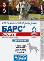БАРС ФОРТЕ КАПЛИ ИНСЕКТОАКАРИЦИДНЫЕ ДЛЯ СОБАК ( 4пип) Лекарственное средство при арахно-энтомозах собак