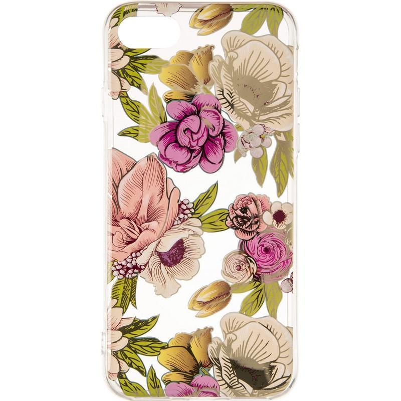 Силиконовый чехол Gelius Flowers Shine с рисунком для телефона iPhone 7/8 Rose