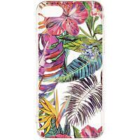 Силиконовый чехол Gelius Flowers Shine с рисунком для телефона iPhone 7/8 Tropic