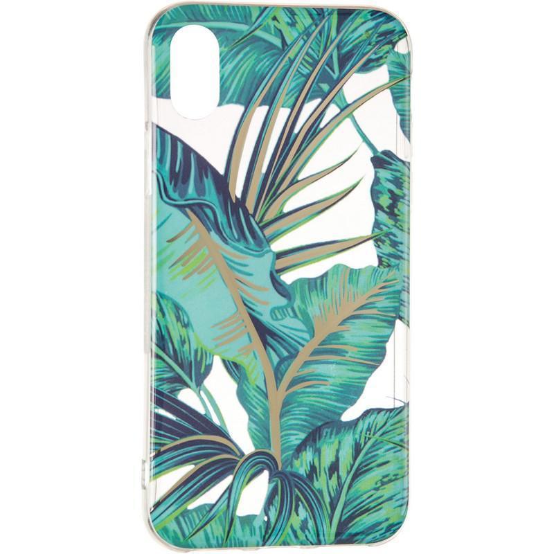 Силиконовый чехол Gelius Flowers Shine с рисунком для телефона iPhone X Jungle