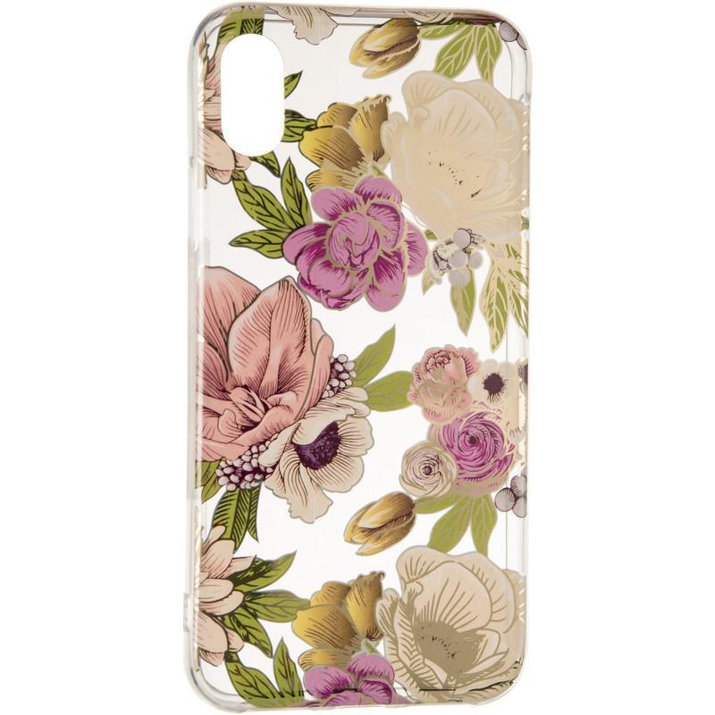 Силиконовый чехол Gelius Flowers Shine с рисунком для телефона iPhone X Rose