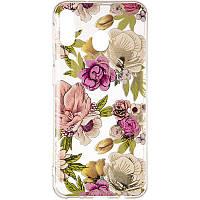 Силиконовый чехол Gelius Flowers Shine с рисунком для телефона Samsung M205 (M20) Rose