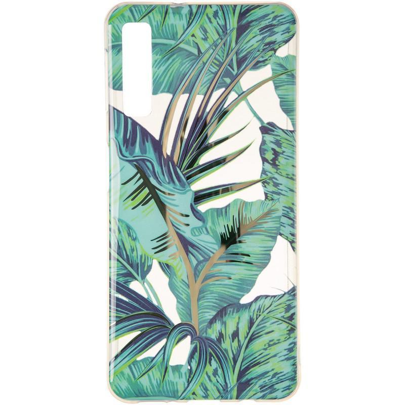 Силиконовый чехол Gelius Flowers Shine с рисунком для телефона Samsung A750 (A7-2018) Jungle