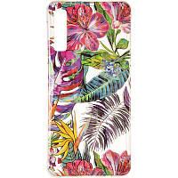 Силиконовый чехол Gelius Flowers Shine с рисунком для телефона Samsung A750 (A7-2018) Tropic
