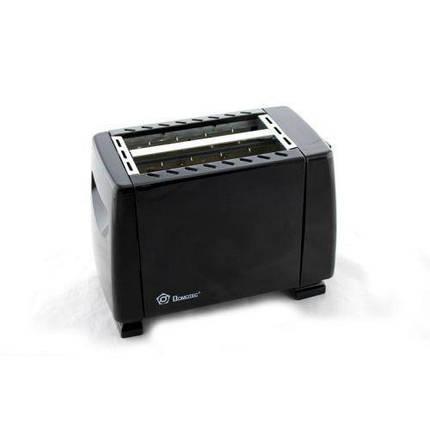 Тостер Domotec MS 3230 чорний 650W кількість тостів 2 кухонна техніка, фото 2