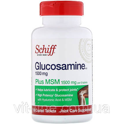 Schiff, Глюкозамин с MSM, 150 таблеток в оболочке, фото 2