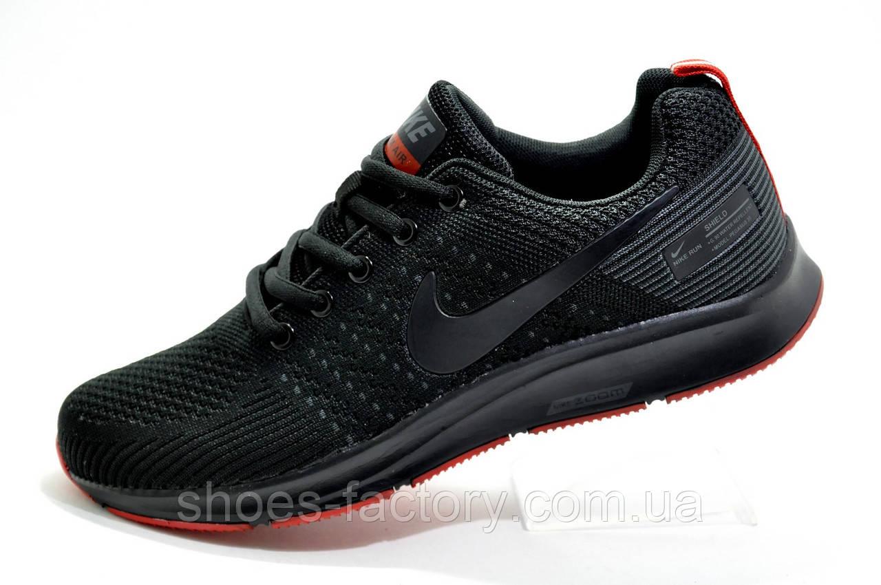 Кроссовки в стиле Nike Shield Pegasus 35 Black, мужские