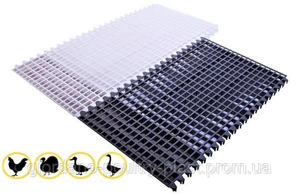 Решетчатый настил для птичников 1000х600 мм, пластиковый пол для птичников