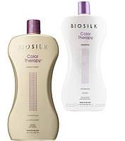 Набор Кондиционер + Шампунь для защиты цвета BioSilk Color Therapy Shampoo 1006мл + 1006мл