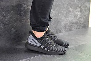 Кроссовки мужские адидас эквипмент черные серые демисезонные (реплика) Adidas Equipment adv 91-18 Black Grey 43