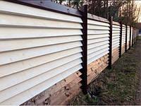 Забор-жалюзи металлический 40/120 Классик полиестер 0.45 мм (0,5-3,0 м), фото 1
