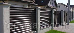 Забор-жалюзи металлический 40/120 Классик полиестер 0.45 мм (до 1,5 м)