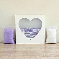 """Набор для свадебной песочной церемонии: Рамка """"Сердце"""" + песок"""