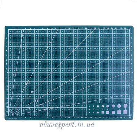Коврик разметочный А4, для раскройки кожи и ткани ( 30*22 см), фото 2