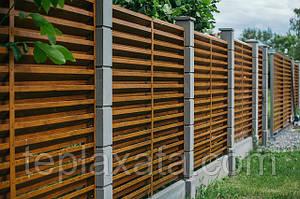 Забор-жалюзи металлический 60/100 Стандарт полиестер 0.45 мм (1,5-2,5 м)