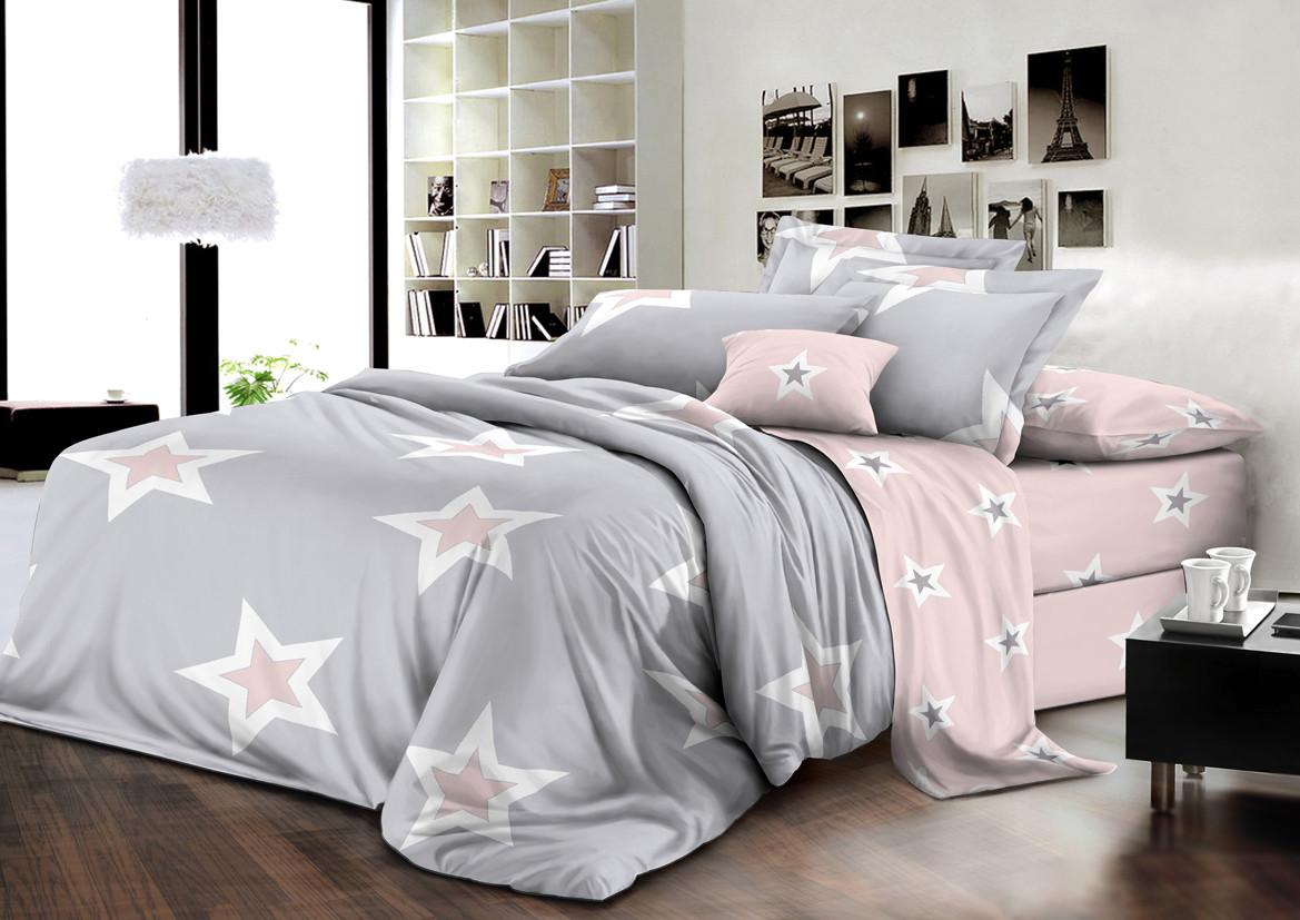 Двуспальный комплект постельного белья евро 200*220 хлопок  (12014) TM KRISPOL Украина