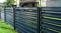 Забор-жалюзи металлический 60/100 Стандарт полиестер 0.45 мм (до 1,5 м)
