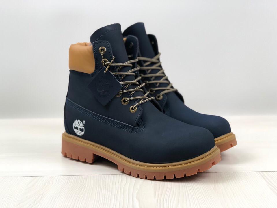 3ba5c268 Ботинки зимние мужские в стиле Timberland код товара 4S-1164. Темно-синие -