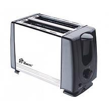 Кухонный тостер Domotec MS 3231 650W нержавеющая сталь черный