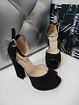 Женские замшевые босоножки на высоком каблуке 36-40р, фото 2