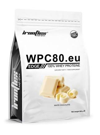 Сывороточный протеин IronFlex - WPC 80EU EDGE (900 грамм) white chocolate/белый шоколад