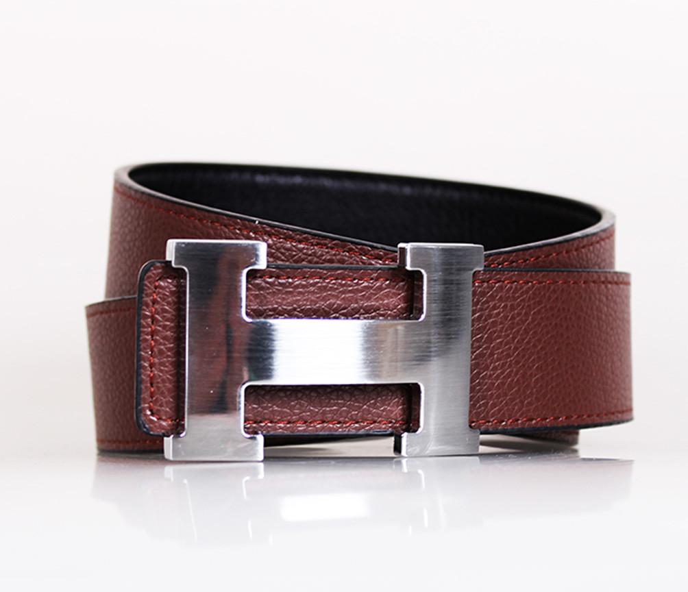Мужской ремень двухсторонний NW682499-14 115 см Черный-Коричневый
