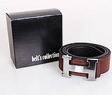 Мужской ремень двухсторонний NW682499-14 115 см Черный-Коричневый, фото 2