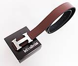 Мужской ремень двухсторонний NW682499-14 115 см Черный-Коричневый, фото 3