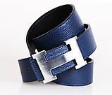 Мужской ремень двухсторонний NW682499-13 115 см Черный-Синий, фото 4
