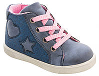Ботинки для девочек синие, Lapsi (Arial) (21), 21 (5518-1639-1)
